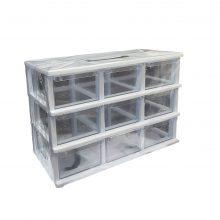 جعبه قطعات ۹ کشو کریستالی قناد پلاست