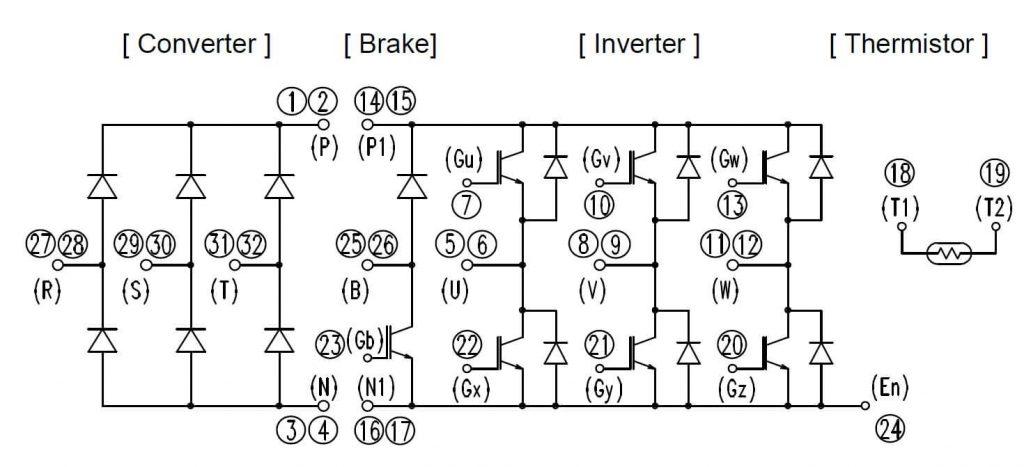 پایه های آی جی بی تی 7MBR75VR120-50