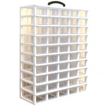 جعبه قطعات ۵۰ کشو (۵*۱۰) کریستالی قناد پلاست