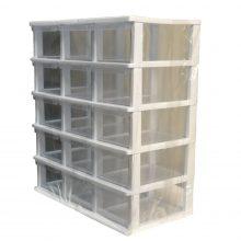 جعبه قطعات ۱۵ کشو کریستالی قناد پلاست