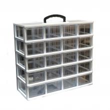 جعبه قطعات ۲۰ کشو کریستالی قناد پلاست (۵ طبقه)