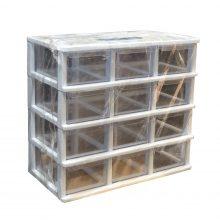 جعبه قطعات ۱۲ کشو کریستالی قناد پلاست