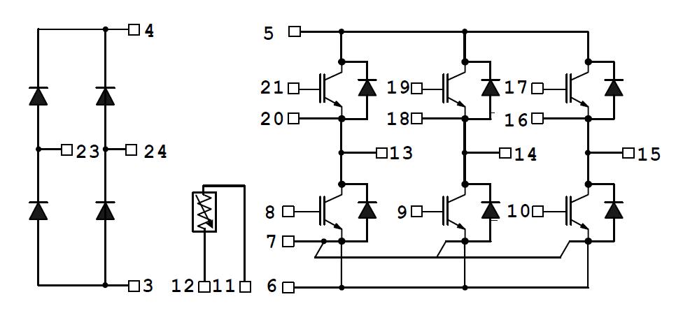 مدار داخلی و پایه های آی جی بی تی P084