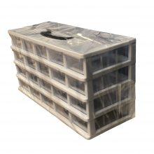 جعبه قطعات ۲۰ کشو کریستالی قناد پلاست (۴ طبقه)