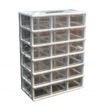 جعبه قطعات 18 کشو کریستالی قناد پلاست