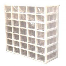 جعبه قطعات ۳۵ کشو ( ۵*۷ ) کریستالی کیان تکنیک