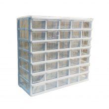 جعبه قطعات ۳۵ کشو ( ۵*۷ ) کریستالی قناد پلاست